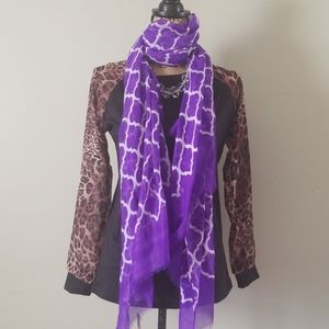 🧡3 for $20! Tickled Pink Basanti purple Scarf